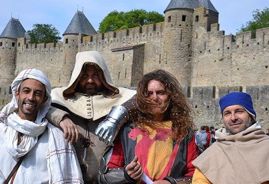 visite de Carcassonne en circuit 2cv